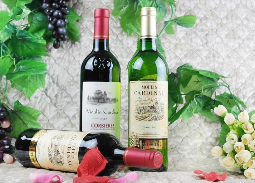 波尔多红酒礼盒(木质):卡迪娜公主干红+卡迪娜公主